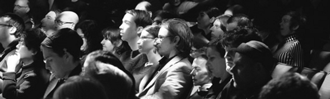An audience at a performance